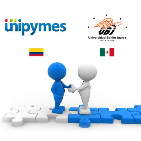 UBJ firma convenio con UNIPYMES en Colombia